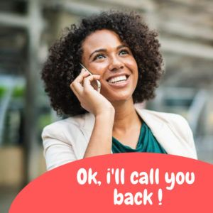 Phrasal verb - call back - rappeler.
