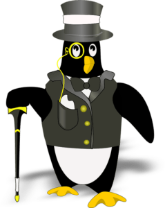 A picture of a tuxedo / penguin suit