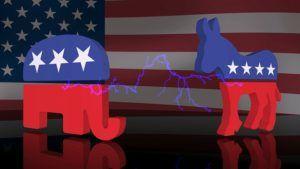 éléphant républicain/ âne démocrate