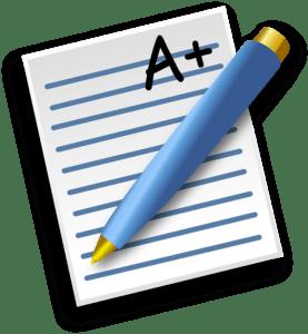 La note d'une évaluation à l'école