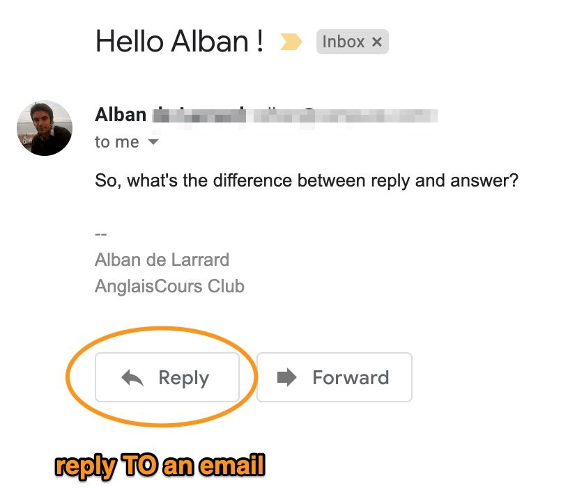 Reply TO an email