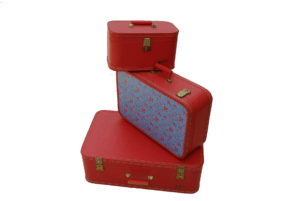 Une image de 3 valises prêtes pour les vacances