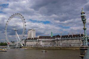 Une image du London Eye, la grande roue à Londres
